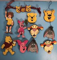 Vintage Winnie the Pooh Wooden Plaque Nursery Decor 9 Pieces