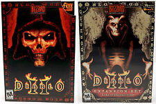 NEW SEALED Diablo II 2 Game + Lord of Destruction Expansion Set PC Windows 10/7