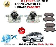 FOR HYUNDAI TUCSON 2.0 CRDI 2.7 2.0i 2005-2010 2x FRONT BRAKE CALIPER + PADS SET