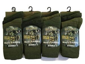 6 Pairs Mens Military Socks Army Thermal Hiking Boots Walking Combat warm  6-11