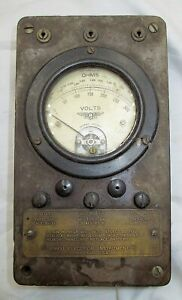 Scarce Antique Jewell Electrical Volt Ohm Meter