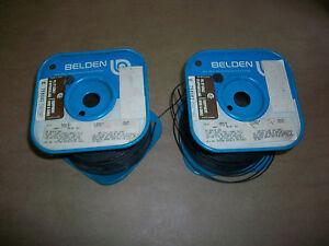 (2) 1000' Spools  Belden 9919   BLACK  PVC Hook-up WIRE 20 awg  7 x 28