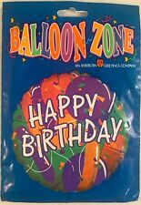 Vintage American Greetings Happy Birthday Helium Balloon NOS Packaged 1990s USA