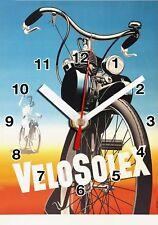 Publicité, Vintage, Velo Solex en Horloge murale -01hm