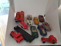 SMALL MIXED JOB LOT CARS CORGI JUNIORS - MATCHBOX & MAJORETTE