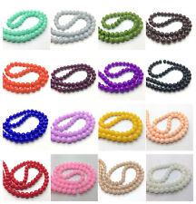 10mm 8mm 6mm 4mm Jade Color Glass Pearl Round Spacer Loose Beads Jewelry Making