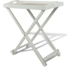 Homestyle Tavolino pieghevole con Vassoio Bianco MDF
