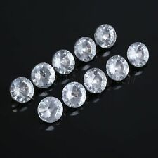 """10Pcs 0.55"""" Diamond Crystal Clear Upholstery Buttons Home Makeovers Sofa Decor"""
