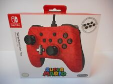 PowerA Super Mario Wired Nintendo Switch Pro Controller Red/Black *NEW*