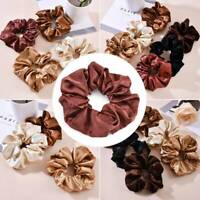 Satin Silk Hair Ties Elastic Scrunchie Ponytail Holder Solid Color Hair Rope AU
