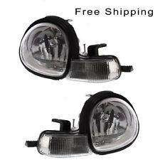 Halogen Head Lamp Assembly Set of 2 LH & RH Side Fits Dodge Neon Chrysler Neon