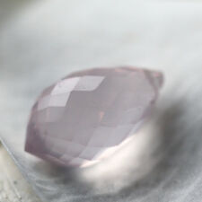 1 top A grade rosenquarz tropfen briolette perle gebohrt, 14,4x8,1-8,2mm, 5,5 ct