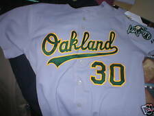 2007 Dan Meyer Oakland A's game used worn jersey