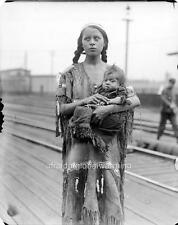 Photo. 1929. Native American Indian Squaw & Papoose At Railway Station