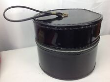 8b6c8fa88e6 Vintage Small Hat Wig Box Round Zip-Up Black