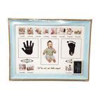 US Baby Photo Handprint Footprint Milestone Moments First Year Keepsake Frame