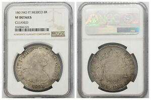 NGC Mexico 1801 Mo FT City Mint 8 Reales Carolus IV Silver Coin VF