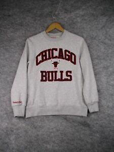 Chicago Bulls Sweatshirt Mens Medium Hardwood Classics Logo Pullover Crewneck
