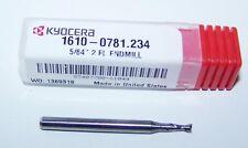 "5/64"" (.0781"")  CARBIDE 2 FLUTE MICRO ENDMILLS, KYOCERA 1610-0781.234"