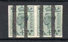 GEORGE VI 4d UNMOUNTED MINT IMPERFORATE PAIR WITH POST OFFICE TRAINING BARS