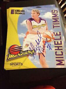 Michele Timms AUTOGRAPH 11x13 Phoenix Mercury HOF FIBA WNBA Basketball AUTO WNBL