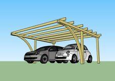 Carport in legno 5x5x2,70 copertura per 2 auto gazebo garage fai da te pergola