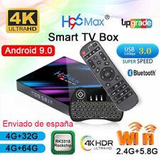 España H96 Max Android 9.0 Tv Box 4GB 64GB RK3318 WiFi 4K HD Internet Caja de TV