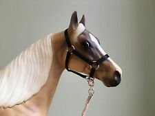 Traditional Scale Black Model Horse Halter For Breyer