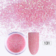 10ml Nail Art Glitter Powder Pink Shining Super Fine Sheets Tips