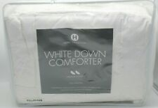 Hotel Collection Medium Weight White Down Fill FULL/QUEEN Comforter Striped $560