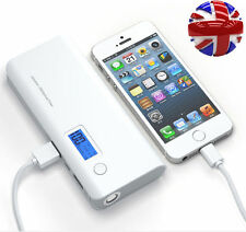 White/gray External 300000mAh Power Bank USB Battery Charger Mobile Iphone UK