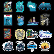 50pcs/lot Funny Slogen Brand Stickers For Fishing Boat Tackle Box Graffiti Decal