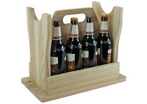 Bierhocker - naturbelassen - für 8 Flaschen - Männerhandtasche - Geschenkidee