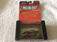 1998 Micro Machines 1978 corvette t- top coupe black  Series 1  1/87 1 of 20,000