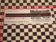 1970's francese ANTIGELO Adesivo Autocollant ESCORT CAPRI CORTINA MK1 MK2 FIESTA