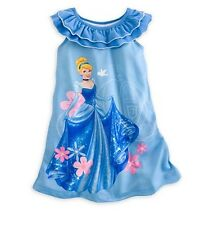 Disney Store Cinderella Princess NightGown Girls Size Medium 7/8 Pajamas PJs NEW