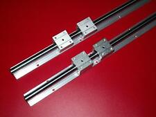 SBR20-1200mm LINEAR SLIDE GUIDE SHAFT 2 RAIL+4 SBR20UU BEARING BLOCK CNC set