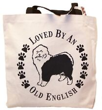 Loved By An Old English Tote Bag New Made In Usa Sheepdog dog
