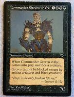 Commander Greven il-Vec HP Reserve List Tempest 1997 Mtg Magic The Gathering
