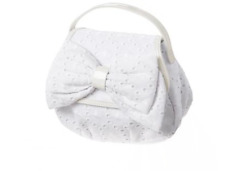Gymboree Girls White Eyelet Bow Purse NEW with tags
