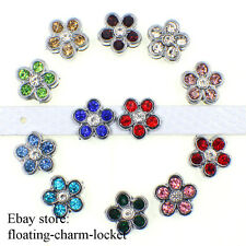 wholesale 12PCS 8mm flowers slide charms for bracelet / pet collar / wristbands