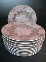 222 Fifth Avenue Eva Aubergine 11 Lunch Plates Purple 8 3/4""