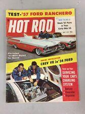 July 1957 Hot Rod Test 57 Ford Ranchero Engine Installation Chev V8 In 34 Ford