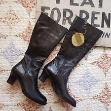 BOC Born Women's Leather Knee Boots Black 6 1/2 NWT