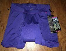 NEW Zoic Womens Essential Liner Bike Shorts Cycling Purple SIZE MEDIUM