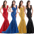 Long Bridesmaid Wedding Formal Dress Mermaid Ball Gown Party Cocktail Prom Dress