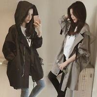 Korean Style Women Hooded Jacket Loose Sun Protection Clothing Coat Outwear Chic