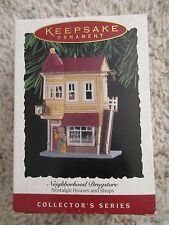 1993 Hallmark Neighborhood Drugstore Nostalgic Houses and Shops 11th in Series