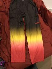 Mens Fubu Extreme Sports Pants Size M Black Yellow Orange Red Bottom Mint