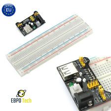 Breadboard 830 Steckbrett & MB-102 Versorgungseinheit & Verbindungskabel Arduino